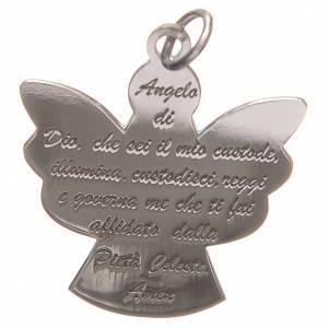 Pendenti, croci, spille, catenelle: Ciondolo angelo 925 argento con preghiera angelo di Dio 2,7 cm