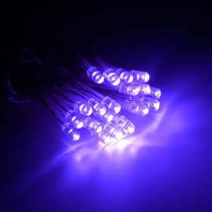 Éclairage Noël 20 ampoules leds lilas intérieur s2