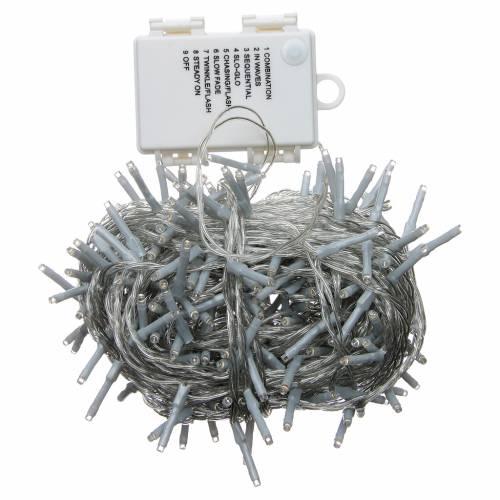 Éclairage Noël chaîne 240 LEDS blanc chaud EXTÉRIEUR piles programmable s3
