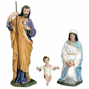 Fiberglass statues: Classic Nativity scene statue in painted fiberglass, 100cm