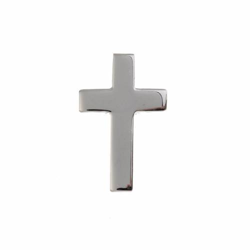 Clergy cross pin in sterling silver, H1.5cm s1