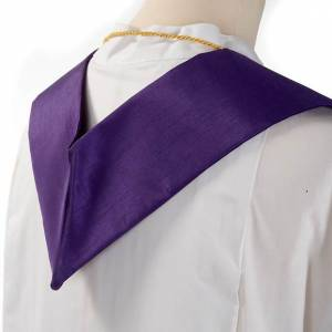 Clergy stole in shantung, cross with rays s5