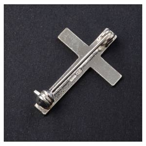 Clergyman cross pin in 800 silver s3