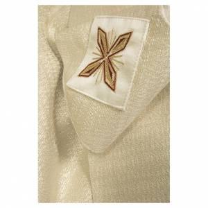 Clivio in tessuto 100% pura seta naturale con ricamo floreale sul fascione s4