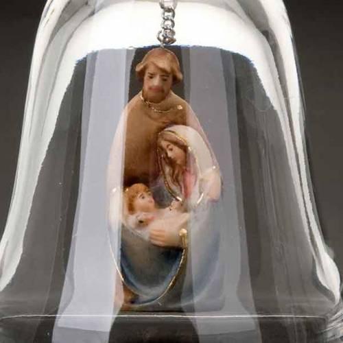 Clochette en cristal avec nativité s5