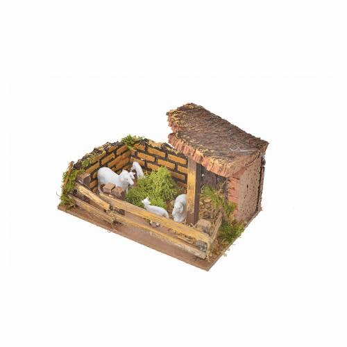 Clôture avec moutons 11x15x10cm s3