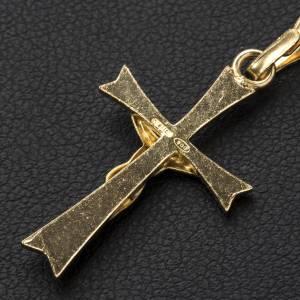 Colgante, cruz dorada de plata 800 s3