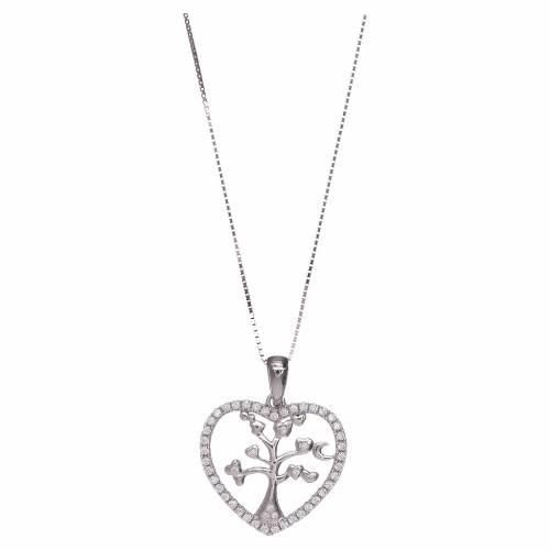 Collana Amen cuore e arg 925 zirconi bianchi s1