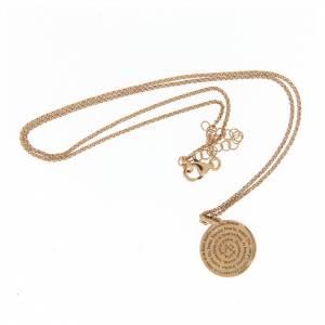 Collana Amen girocollo argento rosato Ave Maria s3