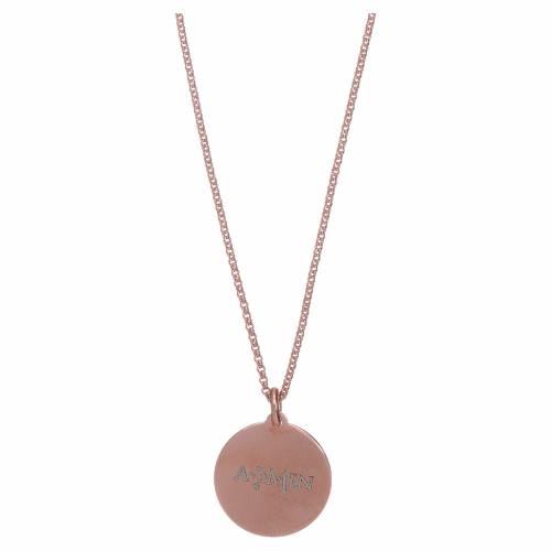 Collana Coelis Padre Nostro arg 925 rosè AMEN s2