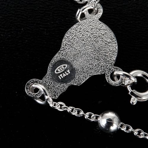 Collana Rosario argento 925 grani 4mm - 5mm 2