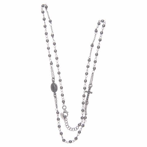 Collana rosario girocollo AMEN pavè argento 925 fin. Rodio s3