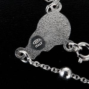 Collar Rosario plata 925 cuentas 4mm - 5 mm s2