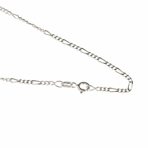 Collier argent 925 maille figaro - long. 50 cm s1