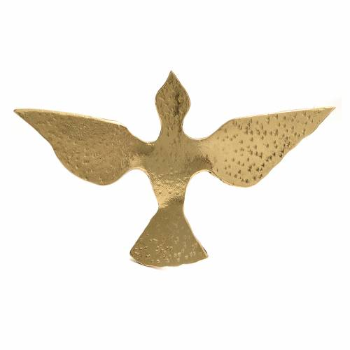 Colomba ottone bronzato 15x24 cm s2