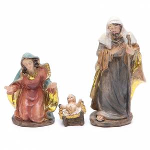 Resin and Fabric nativity scene sets: Complete nativity set in resin measuring 12cm, 32 characters
