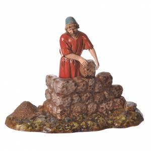 Composition with 4 nativity figurines, 10cm Moranduzzo s5