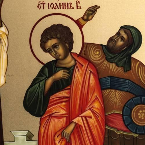 Ícono Rusia Crucifixión de 27x22 cm s4