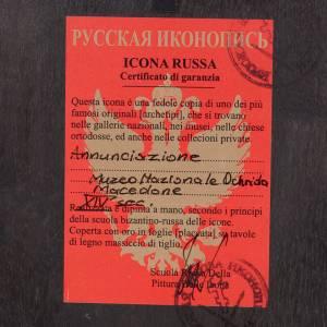 Ícono Ruso Pintado Anunciación s3