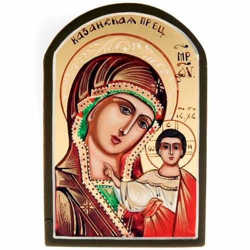 Ícono Sacro Virgen de Kazan 6x9 Rusia s1