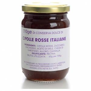 Conserve dolce cipolle rosse italiane 310 gr Monastero Carmelita s1