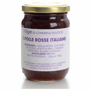 Confitures et marmelades: Conserve sucrée oignons rouges italiens 310g Monastère Carmélites