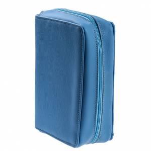 Copertina Bibbia Gerusalemme azzurro pelle s3