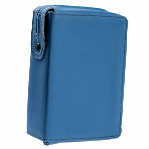 Copertina Bibbia Gerusalemme azzurro pelle s1