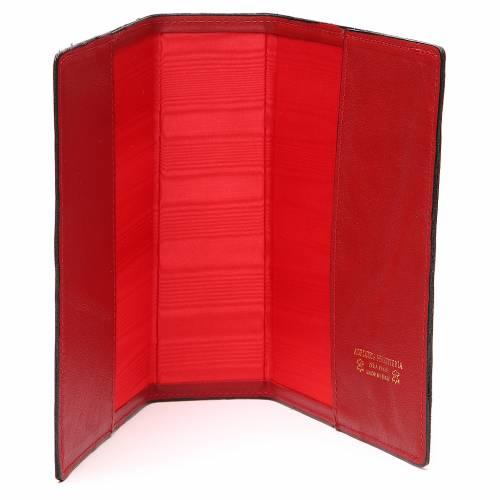 Copertina Bibbia Gerusalemme IHS croce pelle rossa s5