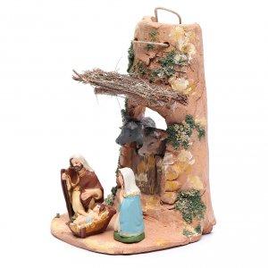 Coppo con statue per presepe terracotta Deruta 23 cm s2