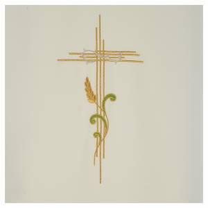 Coprileggio 100% poliestere croce stilizzata e spiga intrecciata s6