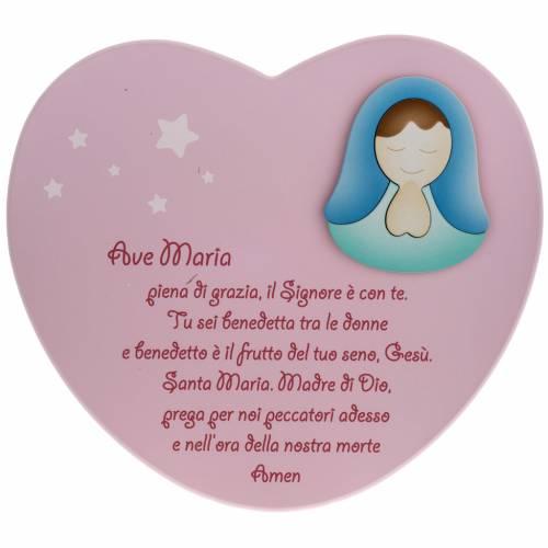 Corazón cántico Ave María rosado Azur Loppi s1