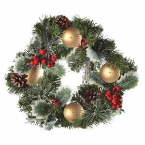Decoraciones navideñas para la casa: Corona de Adviento con bayas