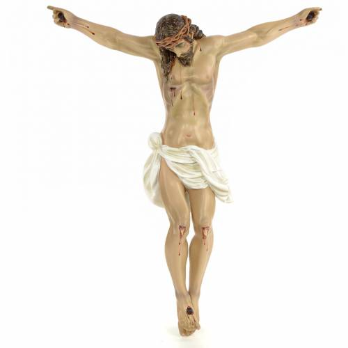 Corpo di Cristo morto 60 cm pasta di legno dec. elegante s1