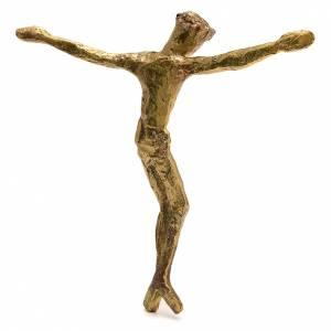 Corpo di Cristo ottone bronzato 28 cm s2