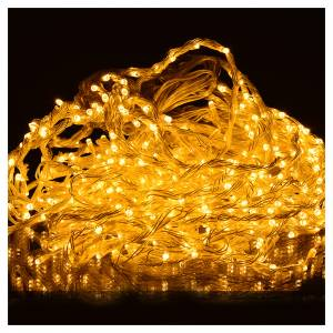 Cortina de luces de Navidad de carámbano 576 LED blanco cálido para exterior s2