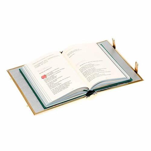 Couverture évangéliaire lectionnaire en laiton doré s5