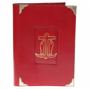 Couverture lectionnaire semaine et férié cuir rouge Ancre du Salut s1