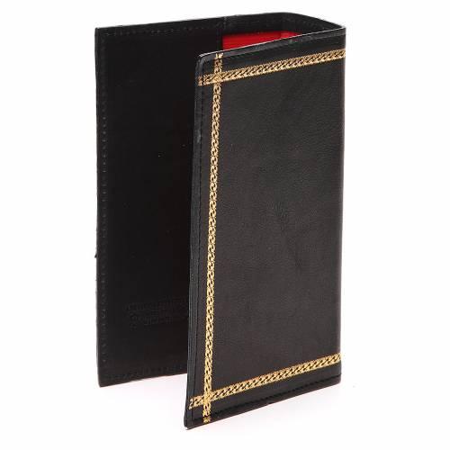 Couverture Lit. Heures vol. unique inscription or cuir noir s3