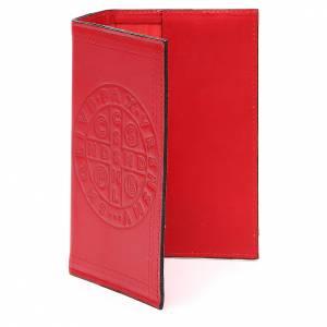 Couverture Lit. Vol. unique cuir rouge croix St Benoît s2