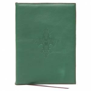 Couverture pour rites A5 croix imprimée verte Bethléem s1