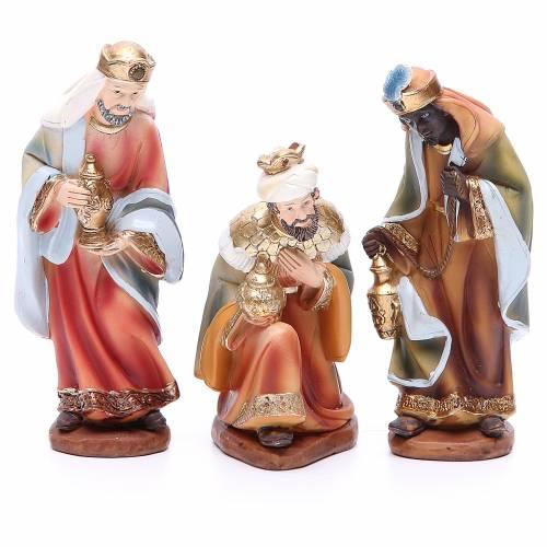 Crèche 14 cm en résine 11 figurines s3