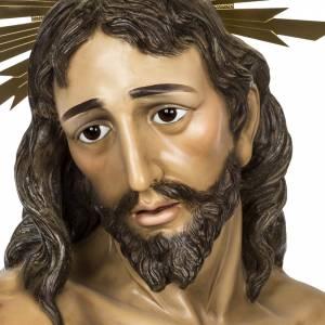 Cristo alla colonna 180 cm pasta di legno dec. anticata s2