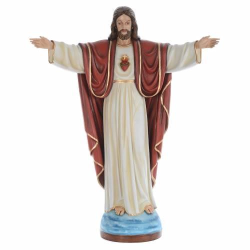 Cristo Redentor 160 cm belén fibra de vidrio coloreada s1