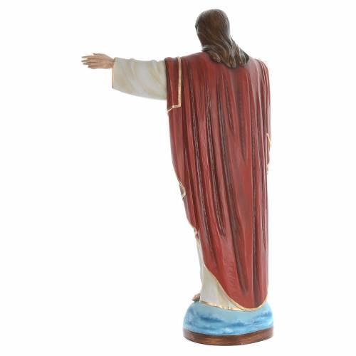 Cristo Redentor 160 cm belén fibra de vidrio coloreada s4