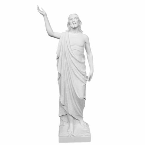 Cristo Redentore 90 cm polvere di marmo s1