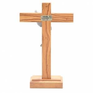 Cristo Risorto metallo crocifisso da tavolo olivo s4