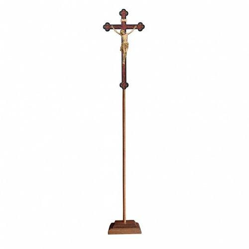Croce astile con base  Cristo Siena  croce barocca antica brunita 3 colori s1