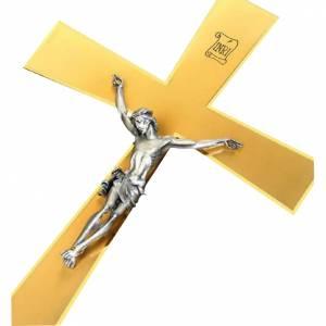 Croce astile dorata INRI con asta s1