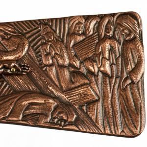Croce astile in bronzo immagini Via Crucis s4